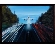 """Картина """"Самолет над Автострадой"""""""