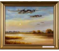 "Картина ""Звено над лесным озером"""