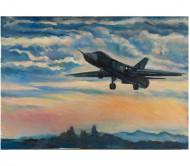 """Картина """"Су-24 на заходе"""""""