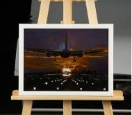 """Картина """"Самолет над полосой"""""""
